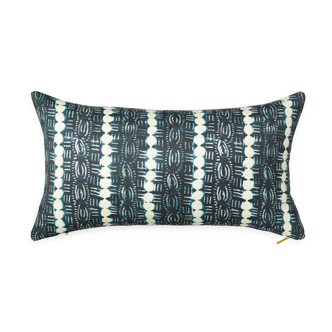 Beads Indigo - Lumbar Pillow