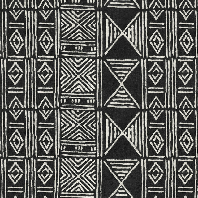 Black Classic Mud Cloth - Wallpaper Yardage St. Frank