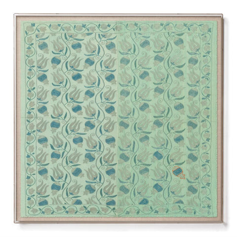 Aqua Pomegranate Suzani - Sublime Framed Print