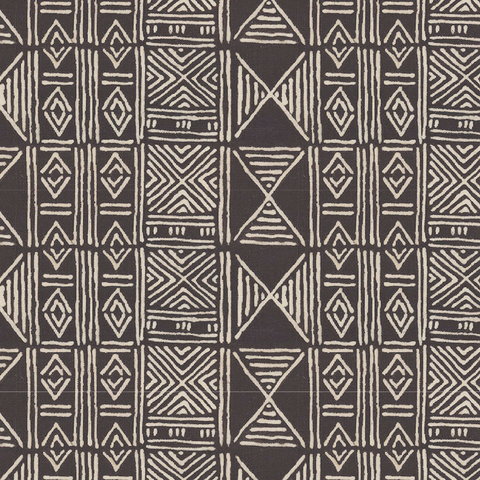 Charcoal Classic Mud Cloth - Fabric