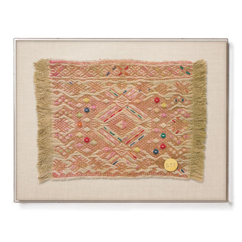 Huipil XVI - Mini Framed Textile