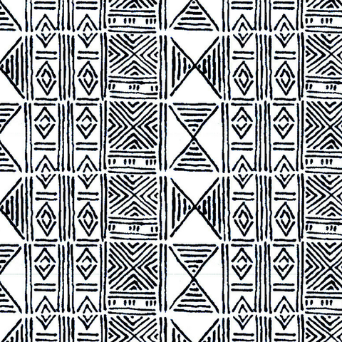 Ecru Classic Mud Cloth - Fabric