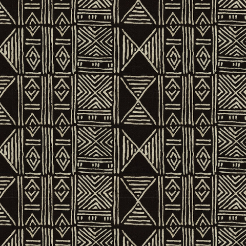 Black Classic Mud Cloth - Fabric