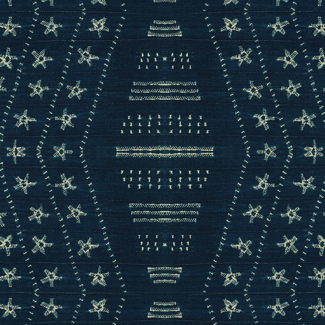 Star Indigo - Wallpaper Yardage St. Frank