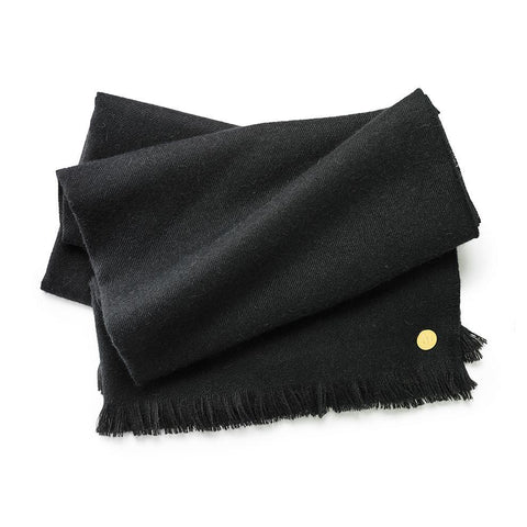 authentic Peruvian black baby alpaca throw