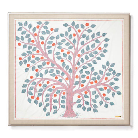 Apple Tree Suzani - Sublime Framed Textile