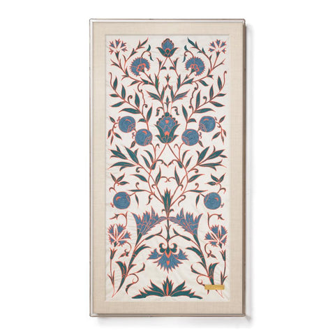 Silk Creme Vines Suzani - Sublime Framed Textile