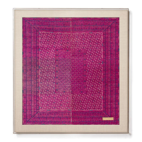 Miao IV - Accent Framed Textile