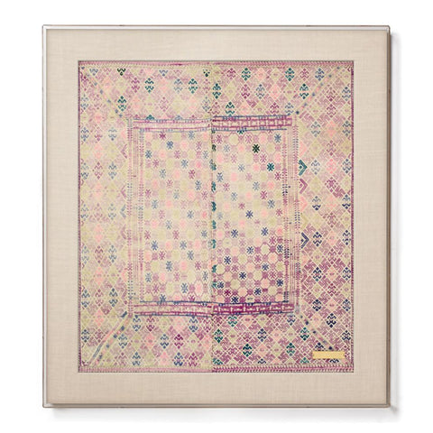 Miao V - Accent Framed Textile