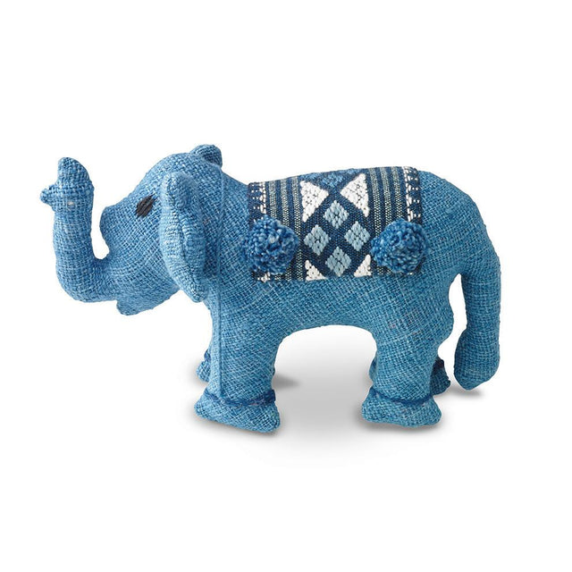 Blue Baby Stuffed Elephant - Decorative Accessory Gifts Laos