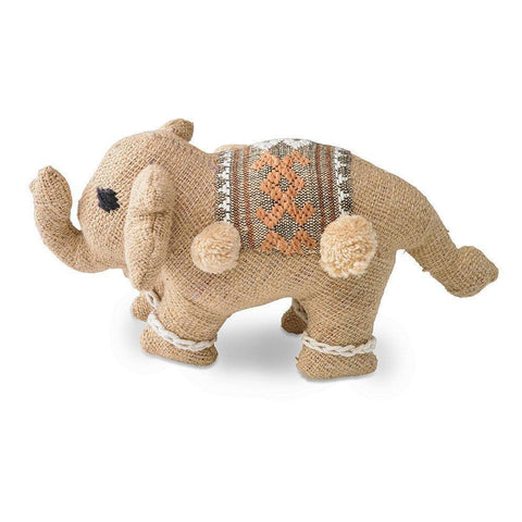 Beige Baby Stuffed Elephant - Decorative Accessory