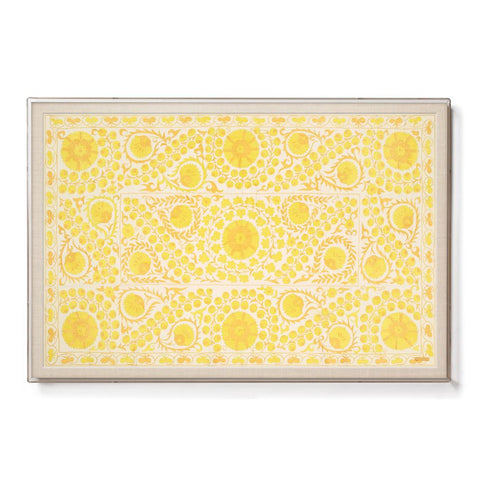 Yellow Daisy Suzani - Sublime Framed Textile