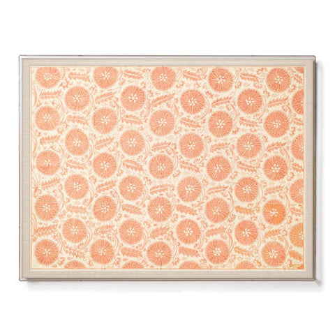 Peach Floral Suzani - Sublime Framed Textile