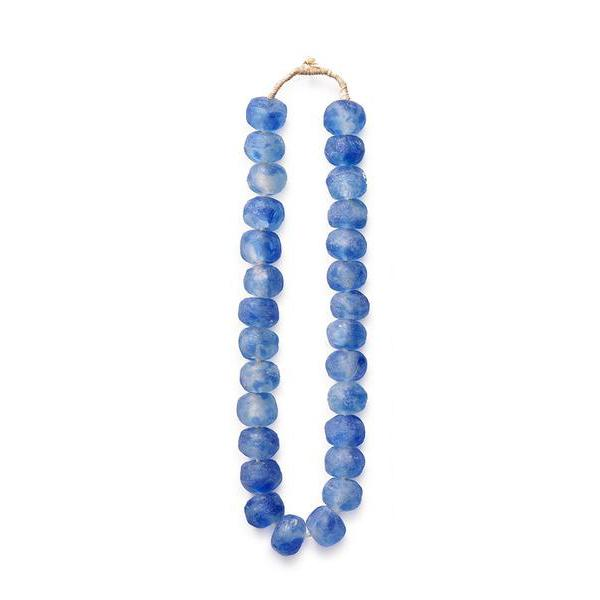 Light Blue Glass Beads - Decorative Accessory Accents Ghana