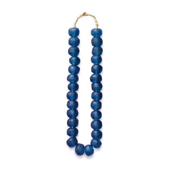 Midnight Blue Glass Beads - Decorative Accessory