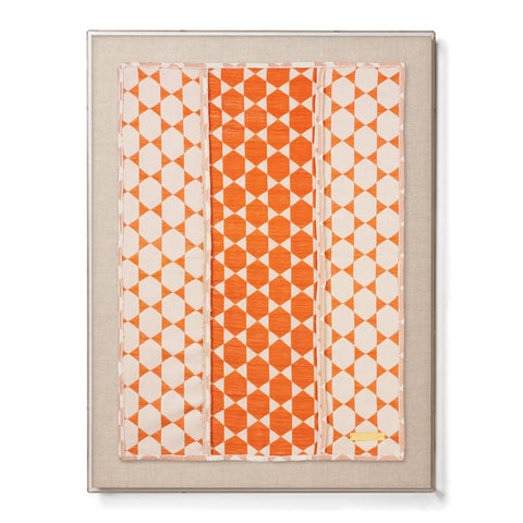Biddew Orange - Accent Framed Textile