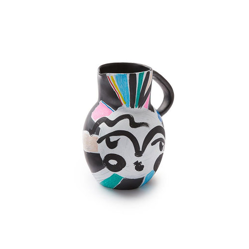 Sally King Benedict Black Clay Pitcher