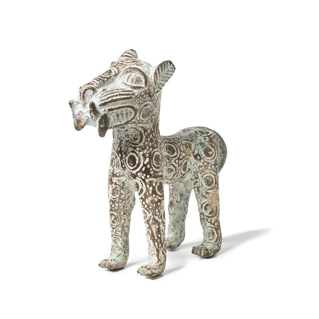 St. Frank Bronze Leopard by Bamileke from Cameroon