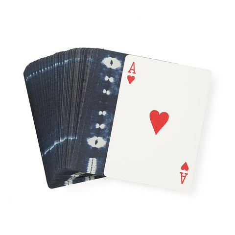 Dots & Shells Indigo - Playing Cards