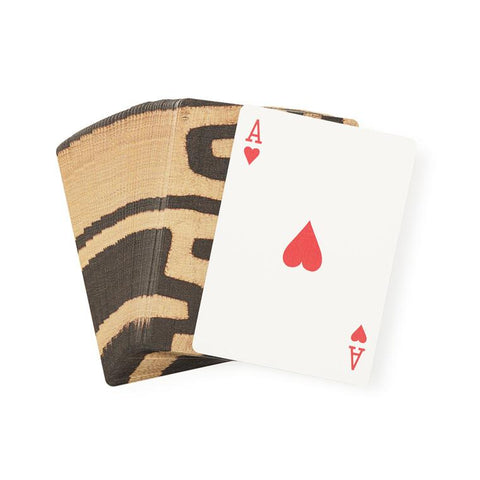 Coffee Classic Kuba Cloth - Playing Cards