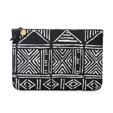 Mud Cloth Travel Clutch