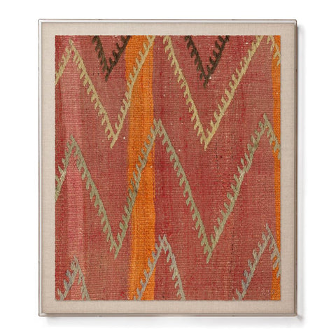 Chevron Kilim - Accent Framed Print