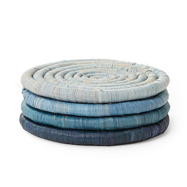 Blue Ombre Coasters - Set of 4 Tabletop Uganda