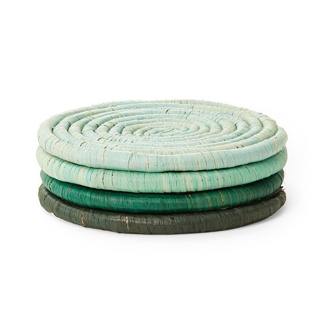 Green Ombre Coasters - Set of 4 Tabletop Uganda
