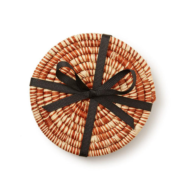 Brown Peace Coasters - Decorative Accessory