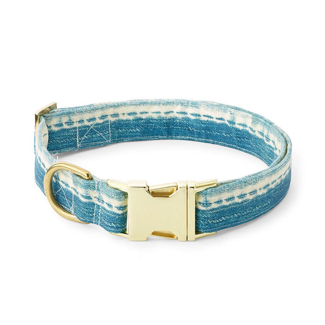 Washed Indigo - Dog Collar