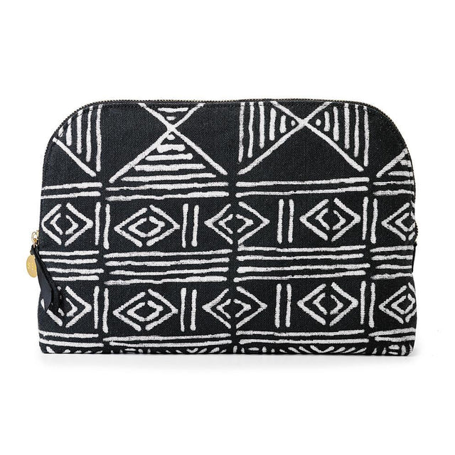 Black Classic Mud Cloth - Cosmetics Case SOLD OUT St. Frank