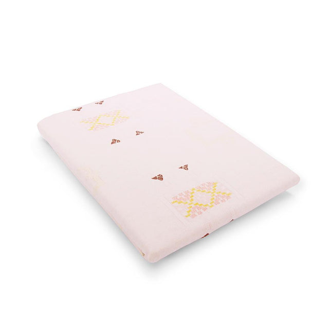 Blush Cactus Silk Fitted Crib Sheet - Bedding Bedding Portugal