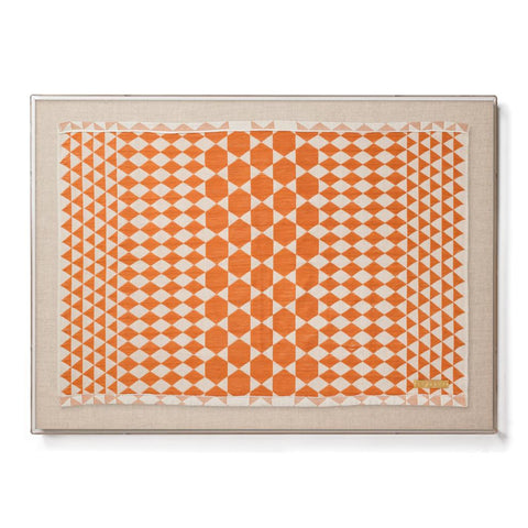 Orange Dakar - Accent Framed Textile