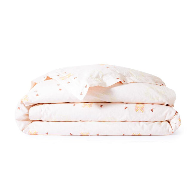 Blush Cactus Silk - Duvet Bedding Portugal Queen
