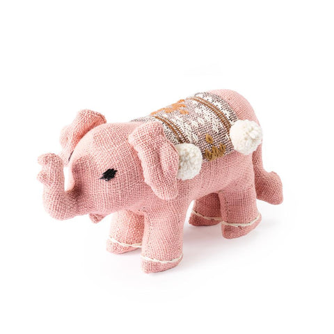 Pink Baby Stuffed Elephant - Decorative Accessory