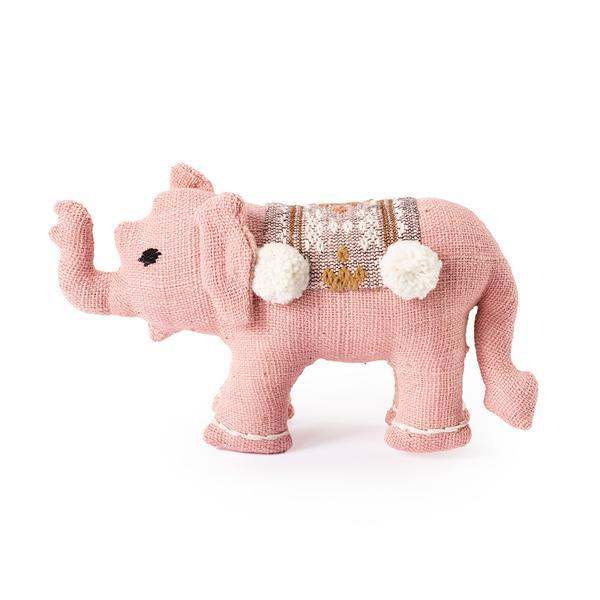 Pink Baby Stuffed Elephant - Decorative Accessory Gifts Laos