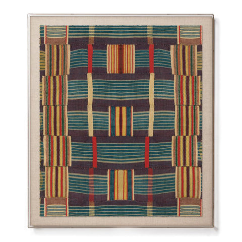 Ewe Kente - Accent Framed Print