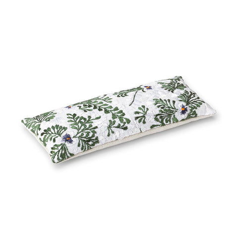 White Oaxacan Embroidery - Lavender Eye Pillow