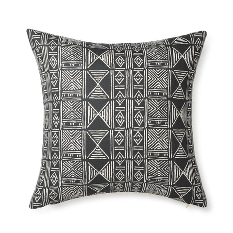 Black Classic Mud Cloth - Floor Pillow