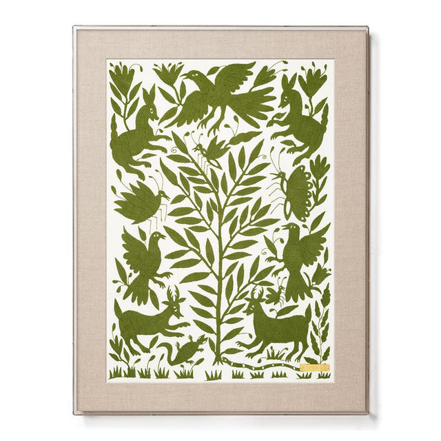 Green Otomí - Accent Framed Textile