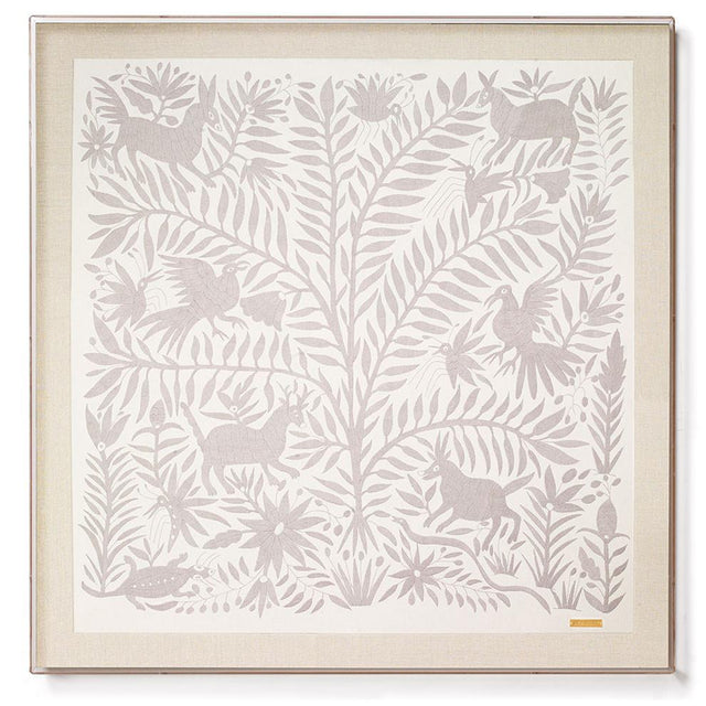 Grey Otomí - Sublime Framed Textile Textile Mexico
