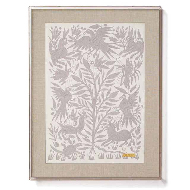Grey Otomí - Accent Framed Textile Textile Mexico