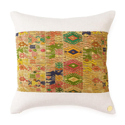 Huipil CXLII - Throw Pillow