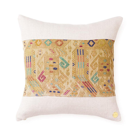 Huipil CXLI - Throw Pillow