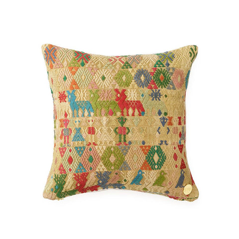 Huipil CXXXIII - Throw Pillow