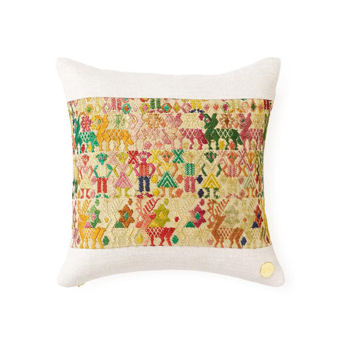 Huipil CXXXII - Throw Pillow