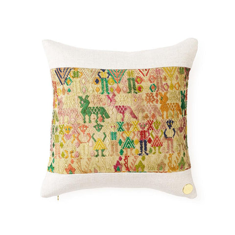 Huipil CXXXV - Throw Pillow