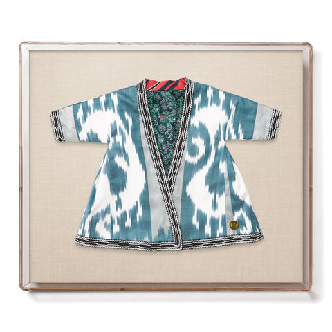 Infant Ikat Robe IX - Accent Framed Textile