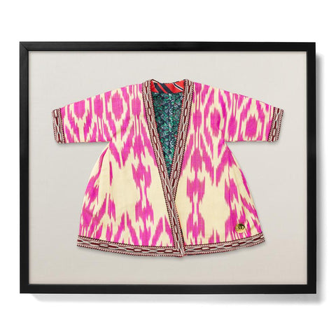 Infant Ikat Robe VIII - Accent Framed Textile