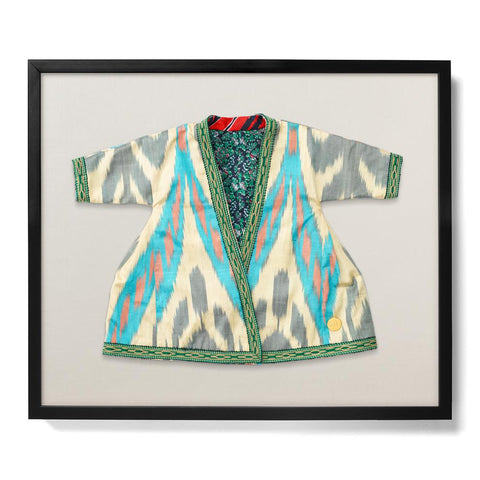 Infant Ikat Robe VII - Accent Framed Textile